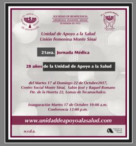 21ava. Jornada Médica Monte Sinai @ Centro Social Monte Sinai