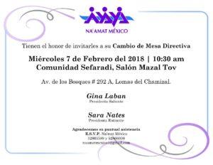 NA´AMAT México- Cambio de Mesa Directiva @ Comunidad Sefaradi -Salón Mazal Tov  | Ciudad de México | Ciudad de México | México