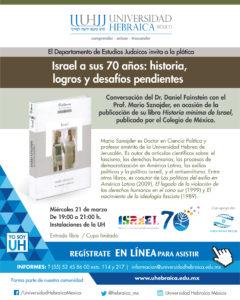 ISRAEL A SUS 70 AÑOS: HISTORIA,LOGROS Y DESAFÍOS PENDIENTES @ UNIVERSIDAD HEBRAICA  | Naucalpan de Juárez | Estado de México | México