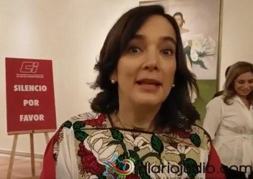 Mensaje de Juana Cuevas, esposa de Meade, invitando a las mujeres de la comunidad a escucharla