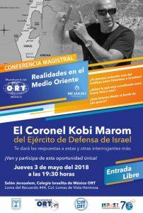EL CORONEL KOBI MAROM -del Ejército de Defensa de Israel @ Salón Jerusalem, Colegio Israelita de México ORT   Ciudad de México   Ciudad de México   México