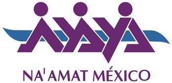 Agradeciéndole a NA'AMAT por su ayuda